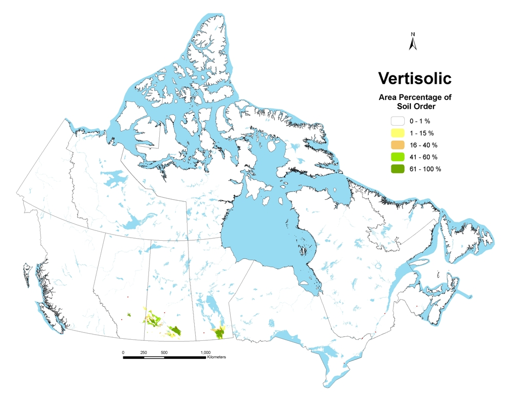 Vertisolic Soils Of Canada - Map of canada with lakes
